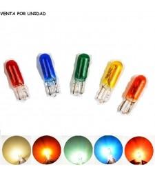 Bombilla Halógena T5 1.2W W1.2W W2x4.6d 286 12V Colores tablero