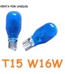 Bombilla T15 W16W Halógena Azulada Posición Interior Cuadro Coche 12v