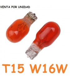 Bombilla T15 W16W Halógena Roja Posición Interior Cuadro Coche 12v