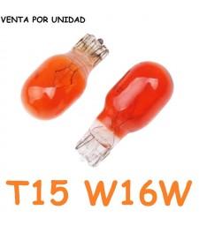Bombilla T15 W16W Halógena Ámbar Intermitentes Interior Cuadro Coche 12v