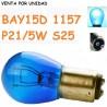 Bombilla P21/5W S25 BAY15d 1157 Halógena Azul 8500K Coche Moto 5W / 10w