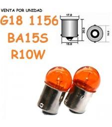 Bombilla Ámbar 1156 G18 R10W S25 Halógena Naranja Intermitentes Coche