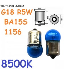 Bombilla 1156 G18 R5W S25 Halógena Azul Posición Marcha Atrás Bayoneta