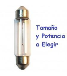 Bombilla Halógena c3w c5w c7w c10w c12w Tipo Fusible