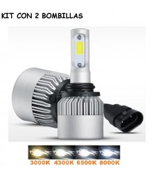 KIT HB4 9006 LED 16000 LUMENES 12/24V