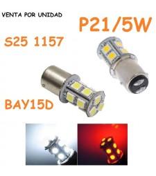 Bombilla Led S25 BAY15D P21/5W 1157 13 SMD Coche Posición y Freno Día
