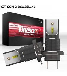 Kit H7 Led 26000 Lumen 12V 24V Coche Luz Cruce y Largas Sin Ventilador