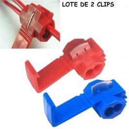 Pack de 2 Clips para Unir cables Empalme Fácil Sin cortes