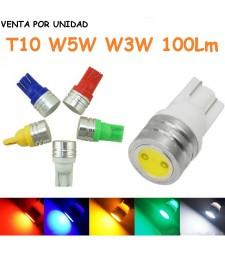 Bombilla Led T10 W5W T15 W16W 100Lm Posición Interior Matrícula Coche