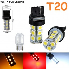 Bombilla Led T20 W21W W21/5W 7440 7443 580 18 Led Cuña Grande