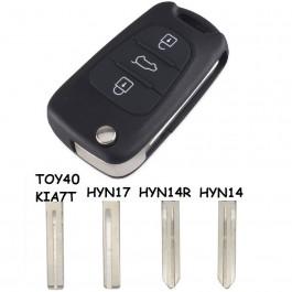 Carcasa Llave Kia y Hyundai 3 Botones CE0682 Ref. 130 Espadín a Elegir