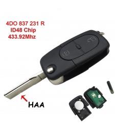 Llave Completa Audi 2 Botones 433Mhz 4D0837231R Ref. 18