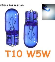 Bombilla T10 W5W W3W Halógena Blanco Azulado Posición Interior Cuadro