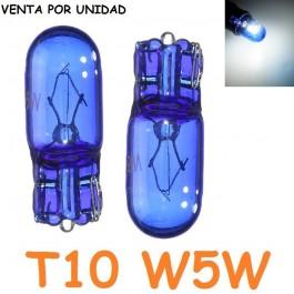 Bombilla T10 W5W W3W Halógena Azulada Posición Interior Cuadro Coche