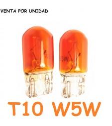 Bombilla T10 W5W W3W Halógena Naranja Ámbar Intermitentes Cuadro Coche