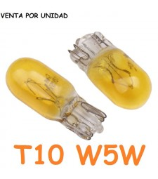 Bombilla T10 W5W W3W Halógena Amarilla Interior Tablero Cuadro Coche