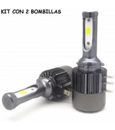 Kit H15 Led 7600 Lumen 12V - 24V Coche Camión Luz de Día Y Largas