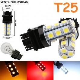 Bombilla Led T25 P27W P27/7W P27/5W 3156 3157 18 Led Cuña Grande
