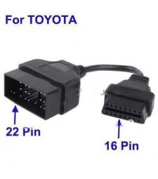 Cable Adaptador Toyota Lexus 22 pin ODB a OBD2 16 pin Diagnóstico