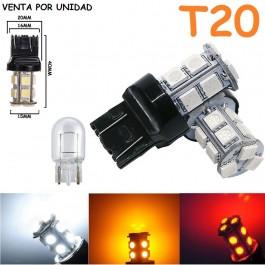 Bombilla T20 W21/5W 7443 580 7440 W21W 13 Led Smd 5050 Cuña Grande