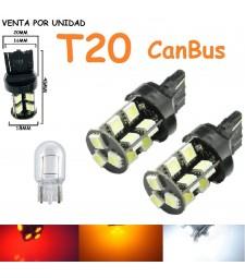 Bombilla Led T20 Canbus W21W W21/5W 7440 7443 580 19 Led Cuña Grande
