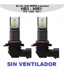 Kit HIR1 HB3 H10 9005 9011 Led 26000 Lumen Cruce Largas Sin Ventilador