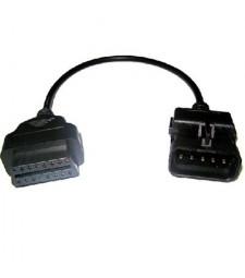 Cable Adaptador Opel GM 10 pin ODB a OBD2 16 pin Diagnosis Diagnóstico