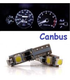 Bombilla Led T5 CanBus 3 SMD W1.2W W2.3W Marcador Cuadro Coche Moto