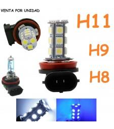 Bombilla H8 H9 H11 y H16 18 Smd Led Bajo Consumo Luz Anti Niebla 6000K