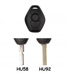 Carcasa Llave BMW 3 Botones Espadín HU58 o HU92 Ref. 127 / 135
