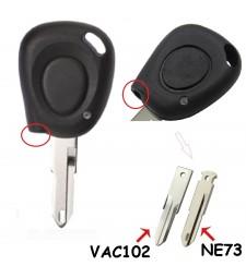 Carcasa Llave Renault 1 Botón + IR NE73 y VAC102 1991 - 1997 Ref. 123