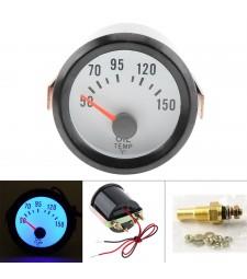 Reloj Termómetro Temperatura del Aceite Coche Gasolina Universal