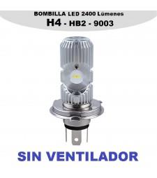 Bombilla H4 HB2 9003 Led 2400 Lumen Luz Cruce y Larga Sin Ventilador