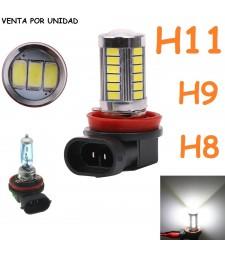 Bombilla H8 H9 H11 y H16 33 Smd Led Bajo Consumo Luz Anti Niebla 6000K