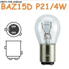 Bombilla Halógena P21/4W S25 BAZ15d 7225 Cristal 1157