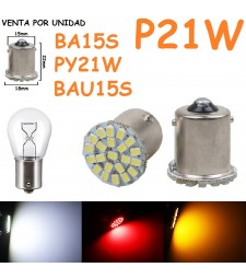 BOMBILLA BA15S P21W 22 SMD LED