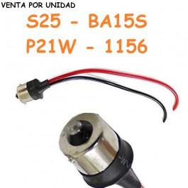 Conector Macho Bombilla BA15S P21W 1156 S25 Coche Furgoneta Camión