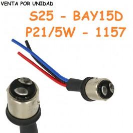 Conector Macho Bombilla BAY15D P21/5W 1157 S25 Coche Furgoneta Camión