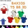 Bombilla Led T5 B8.3D SMD BAX10S Con casquillo Marcador Cuadro