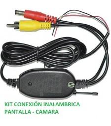 KIT CONEXIÓN INALAMBRICA ENTRE PANTALLA Y CAMARA COCHE 12V FURGONETA CAMION TRACTOR