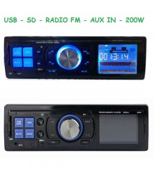 Radio para Coche o Furgoneta USB Aux MP3 Tarjeta de memoria Universal