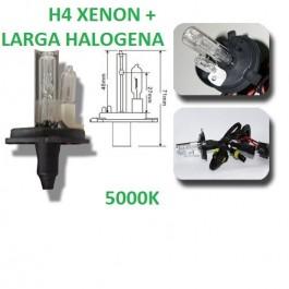BOMBILLA H4 XENON CORTA + HALOGENA PARA LUZ LARGA