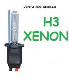 BOMBILLA H3 XENON 35W / 55W UNIVERSAL REPUESTO COCHE MOTO
