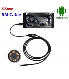 ENDOSCOPIO MICRO USB 5M 7MM ANDROID Y PC CAMARA INSPECCION TUBO TUBERIA MOTOR MOVIL