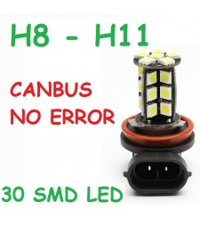 Bombilla H8 H9 H11 H16 30 Led Smd 5050 CanBus Anti Niebla 6000K coche